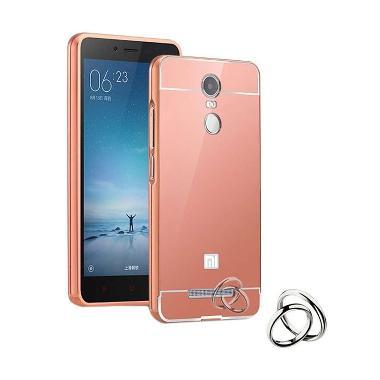 Case Bumper Metal Sliding Backcase Casing for Xiaomi Redmi Note 2 - Rose Gold