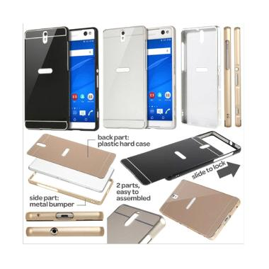 Case Bumper Metal Sliding Backcase Casing for Xiaomi Redmi Note 3 - Gold