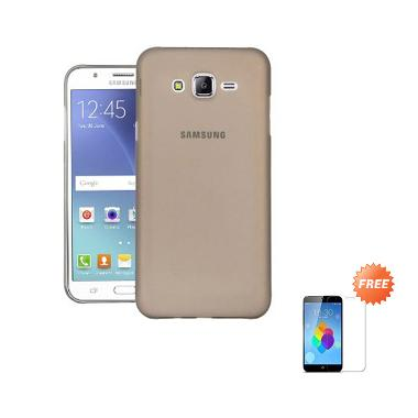 Case Ultra Thin Softcase for Samsung A3 2016 A310 - Abu-abu + Free Tempered