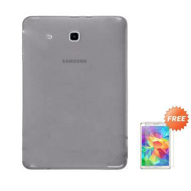 new style 07214 ecff7 Case Ultra Thin Softcase Casing for Samsung Galaxy Tab 3V T110 - Abu Abu +  Free Tempered Glass