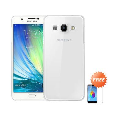 Case Galaxy Ultra Thin SoftCase Clear Casing for Samsung J5 + Free Tempered Glass