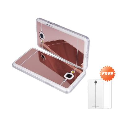Case Mirror Aluminium Bumper Casing For Samsung Galaxy J510 or J5 (2016) - Rose