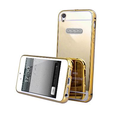 Case Mirror Bumper Casing for OPPO  ... A51T - Gold [Best Seller]