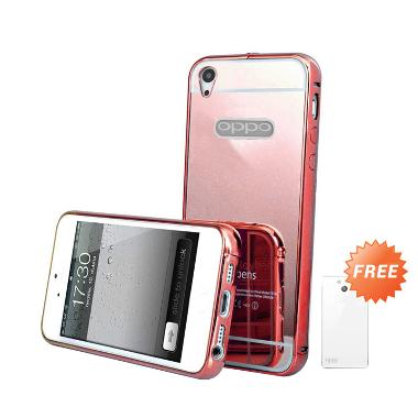 Case Mirror Bumper Casing for OPPO Mirror 5S or A51T - Rose Gold + Free Ultrathin