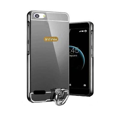 Case Mirror Bumper With Sliding Casing For Infinix Hot 3 X553 - Hitam