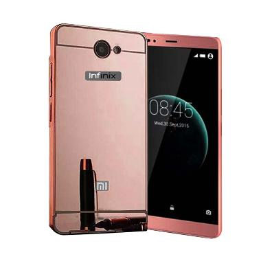 Case Mirror Bumper With Sliding Casing for Infinix Note 2 X600 - Rose Gold