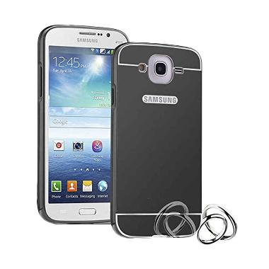 Case Bumper Metal Sliding Backcase Casing for Samsung Galaxy A7 2016 A710 - Black