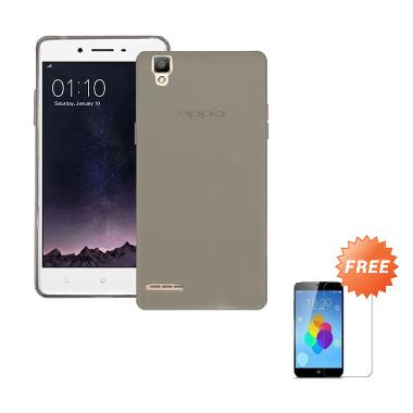 the best attitude c51a1 12d32 Case Ultra Thin Softcase Casing for OPPO R7S - Abu-abu + Free Tempered  Glass Screen Protector
