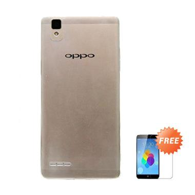 Case Ultra Thin SoftCase Grey Casing for Oppo Joy3 + Tempered Glass