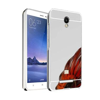 Case Bumper Metal Sliding Backcase  ... mi Redmi Note 3G - Silver
