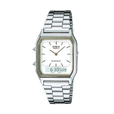 Casio Original AQ-230A-7DMQ Silver White Casual Jam Tangan Wanita