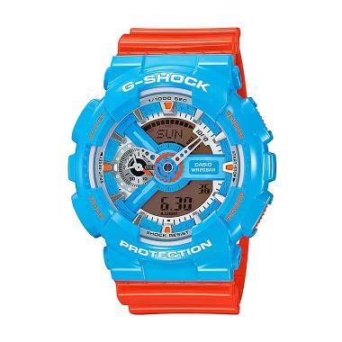CASIO G-SHOCK GA-110NC-2A Orange Blue Glossy Jam Tangan Pria
