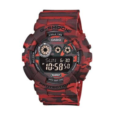 CASIO G-SHOCK GD-120CM-4 Red Camouflage Jam Tangan Pria