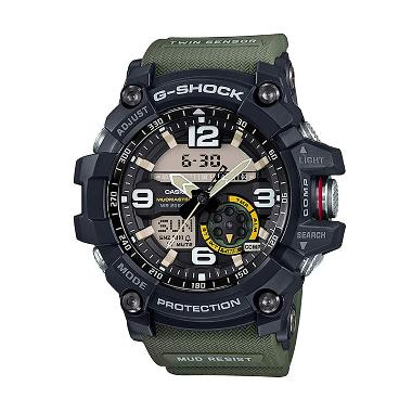 CASIO G-SHOCK GG-1000-1A3 Mudmaster Twin Sensor - Black Green
