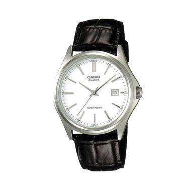 Jam Tangan Casio Ladies Analog LTP-1183E-7ADF - Silver Black