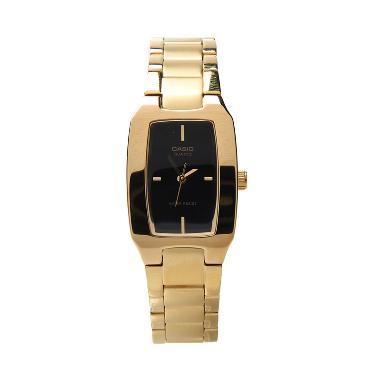Jam Tangan Casio LTP-1165N-1CRDF Wanita - Black Gold