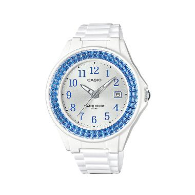 Casio LX-500H-2B Shiny Ring Jam Tangan Wanita - White Blue