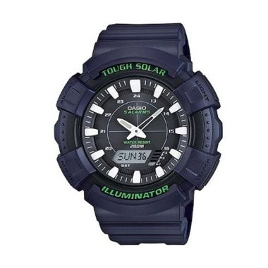 Casio Jam Tangan Pria Original Tough Solar AD-S800WH-2AVDF Blue
