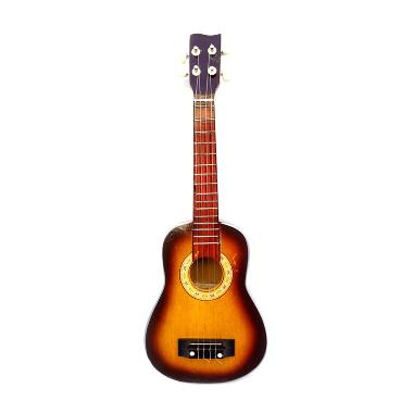 Central Kerajinan 4 Senar Coklat Hitam Gitar Ukulele Kentrung [58x21x8 cm]