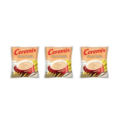 Ceremix French Vanilla Cereal Bag (20 Sachet @30 Gram) [Pack of 3