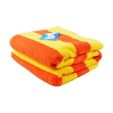 Ceria Lenuta Handuk Pantai Strip Line Kuning Orange