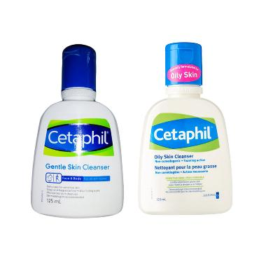 Cetaphil Oily Skin Cleanser [125 ML] + Cetaphil Gentle Skin Cleanser [125 ML]