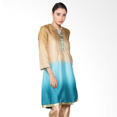 Chanira Tanisha Blue Gradasi CBR0250617 Tunic - Gold Blue