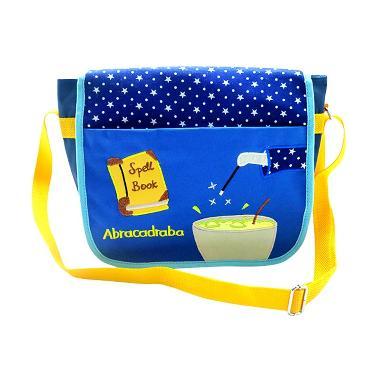 Char & Coll Messenger Sling Bag Magic Tas Selempang Anak - Blue