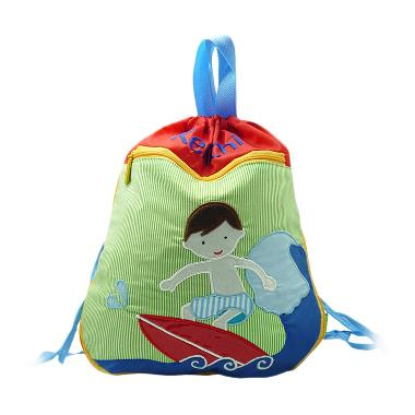 Char & Coll Surfer Custom Nama Swimming Bag Kids Tas Renang