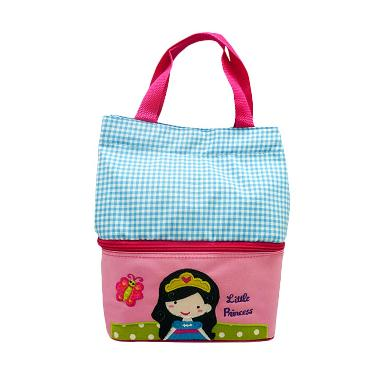 Char & Coll Tas Makan Anak Bento Princess Amelia Lunch Bag - Pink Blue
