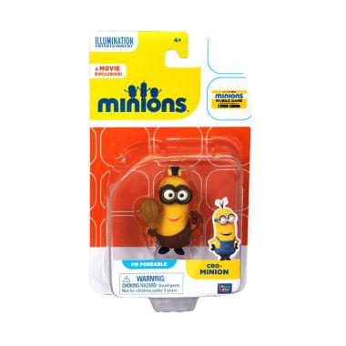Minions Cro-Minions Action Figure Articulated Yellow Mainan Anak