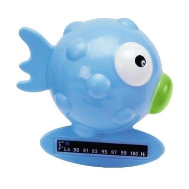 Chicco 65642 Bath Thermo Fish Pengukur Suhu Air - Light Blue