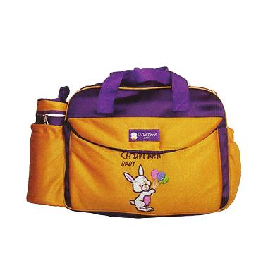 Chintaka Saku Bordir + TBSD Rabbit  ... 0300 Orange Ungu Tas Bayi