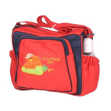 Chintaka Saku Bordir CBT150100 Red Navy Tas Bayi
