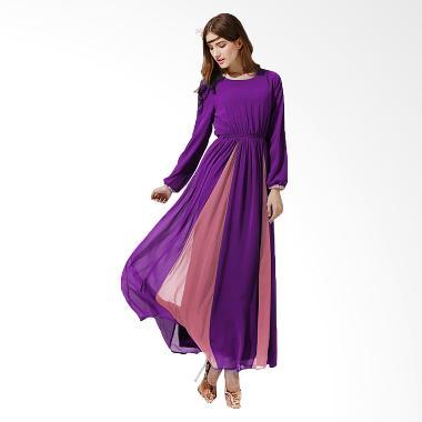 Chloe's Clozette Long Sleeve Muslim MD 01 Gamis Dress - Ungu