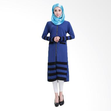 Chloe's Clozette MD 09 Dress Baju Muslim Lengan Panjang - Biru