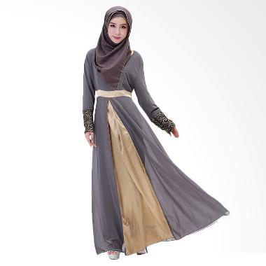 Chloe's Clozette MD 12 Baju Muslim  ...  Lengan Panjang - Abu-abu