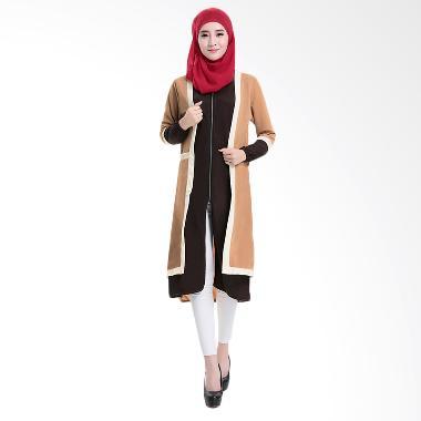 Chloe's Clozette MD 14 Baju Muslim  ... gan Panjang - Coklat Muda