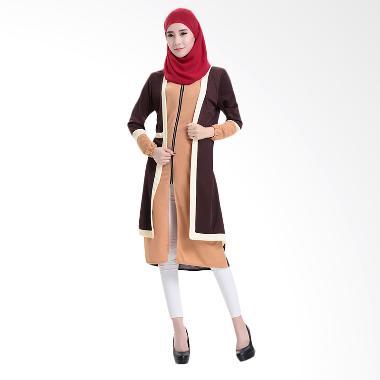 Chloe's Clozette MD 15 Baju Muslim Dress Gamis Lengan Panjang
