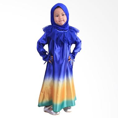 Chloe Babyshop F561 Jilbab Rainbow Gamis - Blue