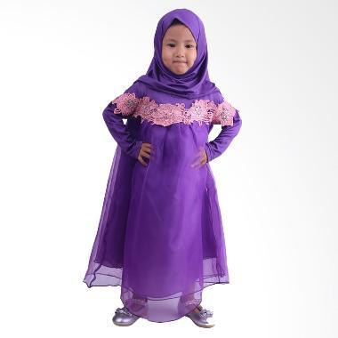 Chloe Babyshop F565 Renda Gamis Anak - Purple