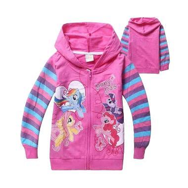 Chloe Babyshop Hoodie Pony F716 Fuchia Jacket Anak