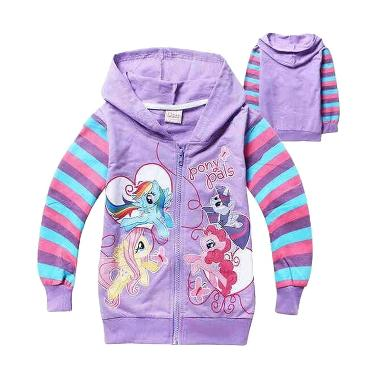 Chloe Babyshop Pony F716 Purple Jacket Anak