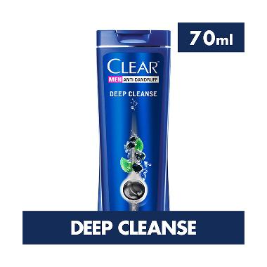 REVIEW CLEAR MEN Anti Ketombe Deep Cleanse Shampoo [70 mL] Terbaik
