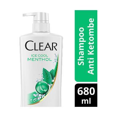 Clear Shampoo Anti Ketombe Ice Cool Menthol 680ml