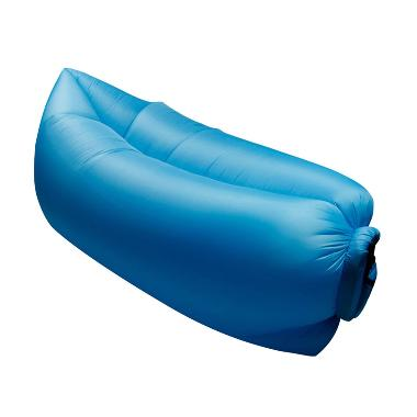 Cloud Lounger Inflatable Air Sofa Bed Tanpa Pompa - Biru