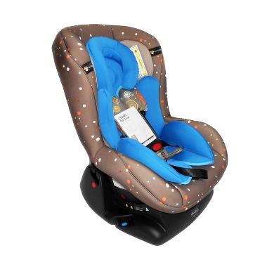 Cocolatte 806 WZZC-G Polkadot Car Seat - Brown Blue