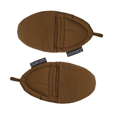 Cook & Bake SET OF 2 POT HOLDER - BROWN