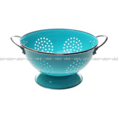 Cooks Habit Colander 3 QT Coating Turquoise Blue