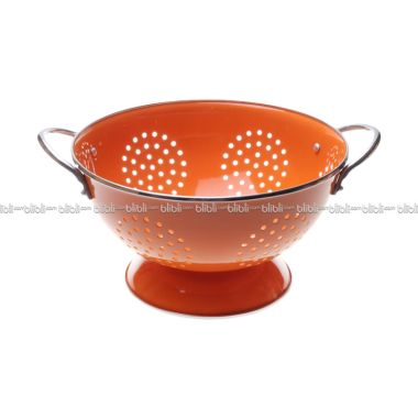 Cooks Habit Colander 3 QT Coating Orange